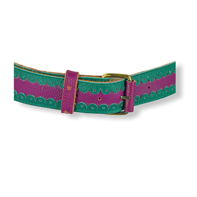 Cinturon Jeans Belt (Purple/Green)