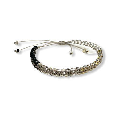 Crystal bracelet (black/grey)