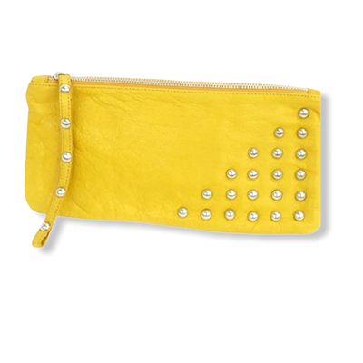 Studded Purse (yellow)