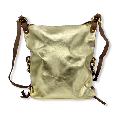 Messenger Bag / Back Pack (Metallic Gold)
