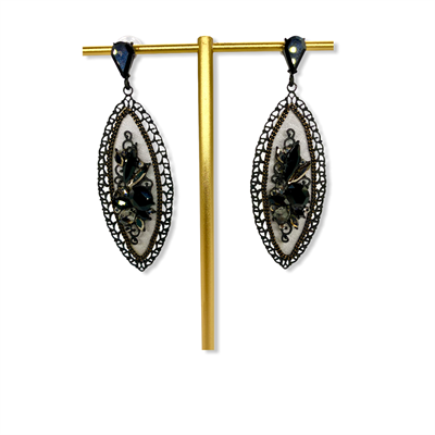Nickel Free Earrings (grey/black)