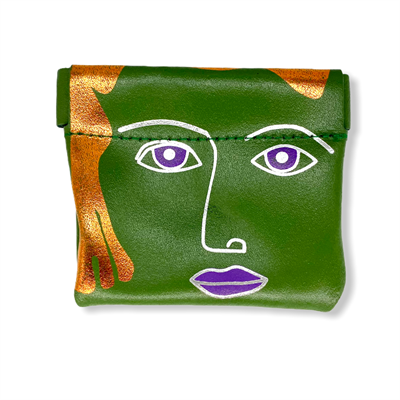 Square Face Coin Purse Green