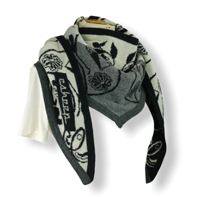 Something remembered Scarf(Cream/black/grey/char)