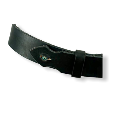 Taxidermy eye Belt (black/chrome)