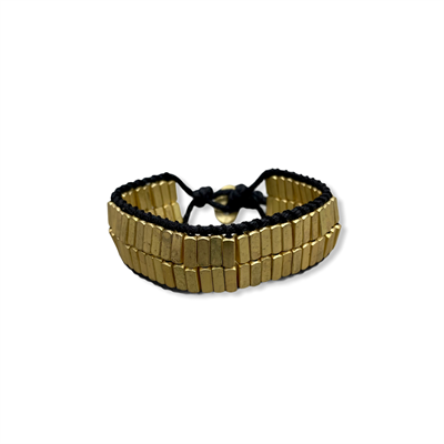 Greek Style Bracelet (black/Gold)