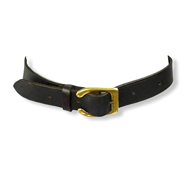 Leather belt (brass buckle/brown)