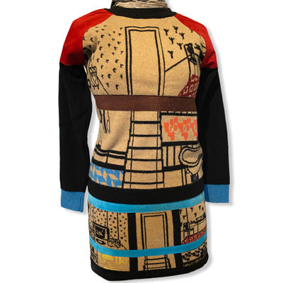 Doll House sweater (camel/black/multi)