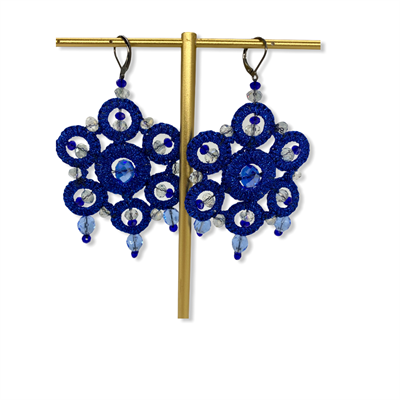 Macrame Earrings (Blue)