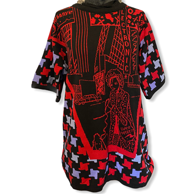 Electronic Supermarket Kaftan(black/lilac/red)