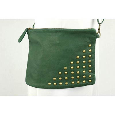 Small studded Messenger (Bottle green)