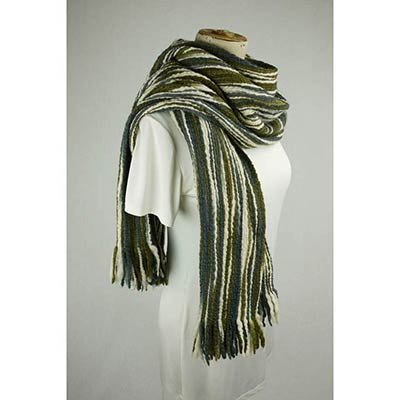 Wool shawl (green/grey)