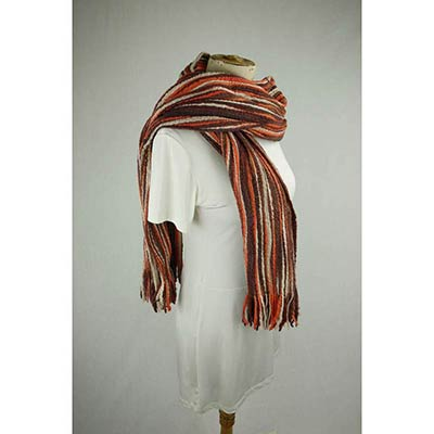 Wool shawl (brown/orange)