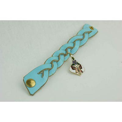 Kellan Bracelet with Charm (baby blue)