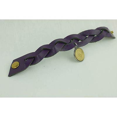 Kellan Bracelet with Charm (Chunky Purple)