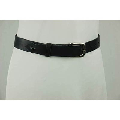 Taxidermy eye Belt (dark brown/chrome)