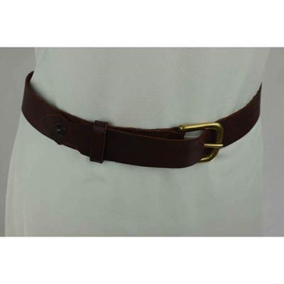 Taxidermy eye Belt (dark brown/brass)