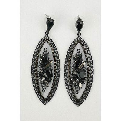 Nikel free earings (grey/black)
