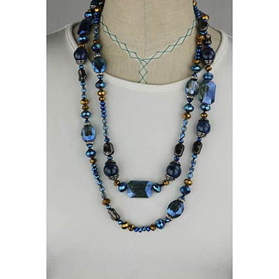 Crystal Necklace (blue)
