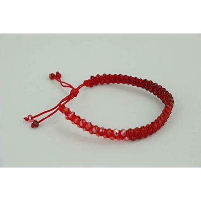 Crystal bracelet (red)