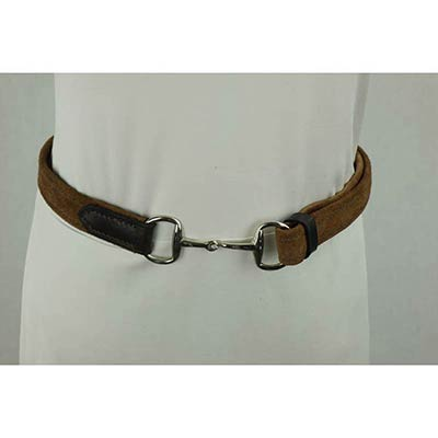 Suede/leather belt (light brown)