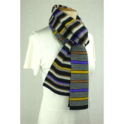 striped scarf ( black/purple)
