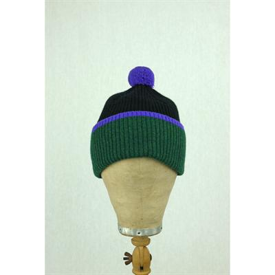 Bobble hat (black/green)