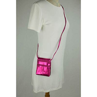 Peggy Purse (metallic pink)