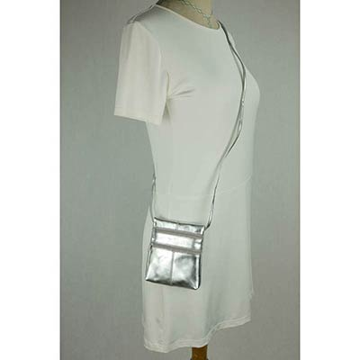 Peggy Purse (metallic silver)