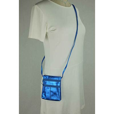Peggy Purse (metallic blue)