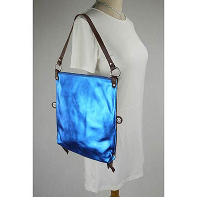 Messenger Bag / Back pack (Metallic Blue)