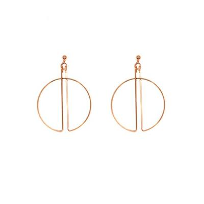 Aleria Hoop Earrings (Rose Gold)