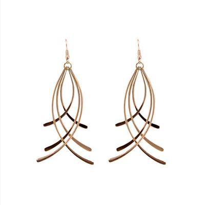 Annabelle Entwined Earrings (Rose Gold)