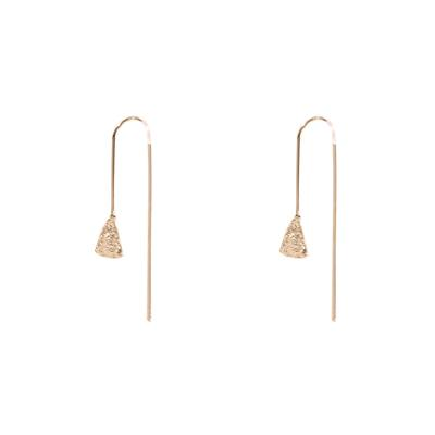 Carmen Textured Pull Through Earrings (Gold)