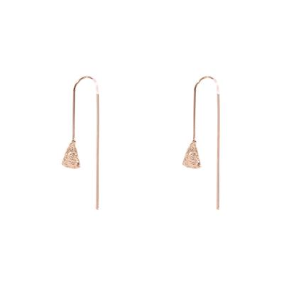 Carmen Textured Pull Through Earrings (Rose Gold)