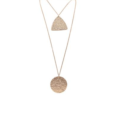 Carmen Textured Two Row Necklace (Rose Gold)