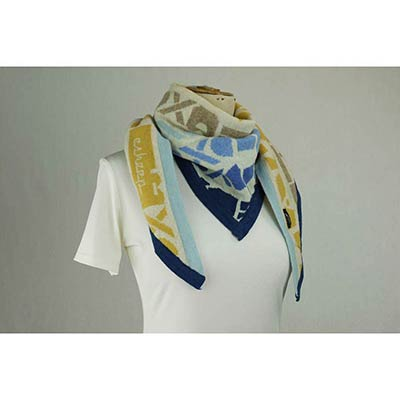 Ephemera Scarf (Cream/blue/multi)