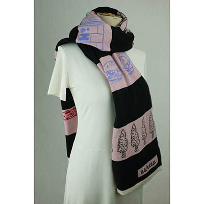 If you cant stop wave as you go by scarf (pink/black/multi)