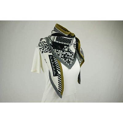 Doll house scarf (white/black/khaki/charcoal)