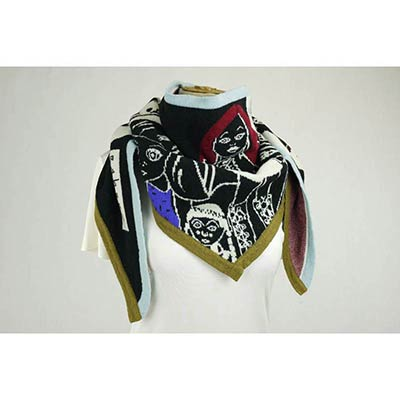 Doll Face scarf (black/white/multi)