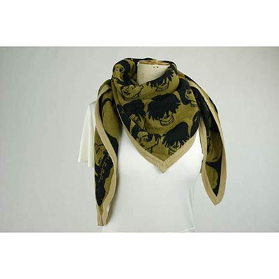 Curl and Style scarf (khaki/black/tan)