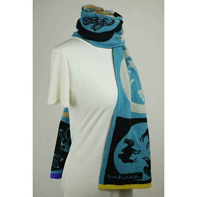 Zoetrope scarf (bright blue/multi)