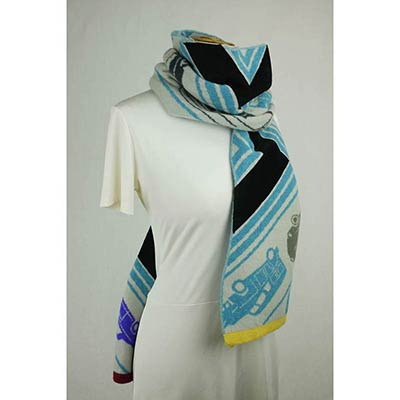 Toy Convoy scarf (pale grey/bright blue/multi)