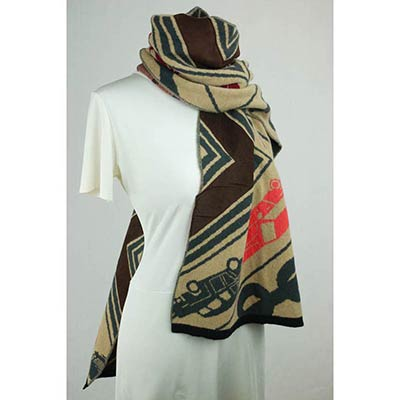 Toy Convoy scarf (tan/khaki/multi)