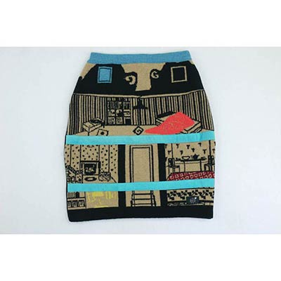 Doll House skirt (camel/black/multi)