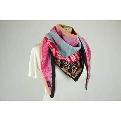 Twin Porcelains scarf (cerise/pink/orange/multi)