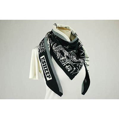 Girl by liffey scarf (black/white)