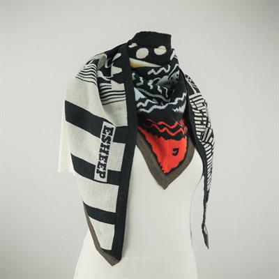 The Apartment Oversized Triangle Scarf Black/Multi