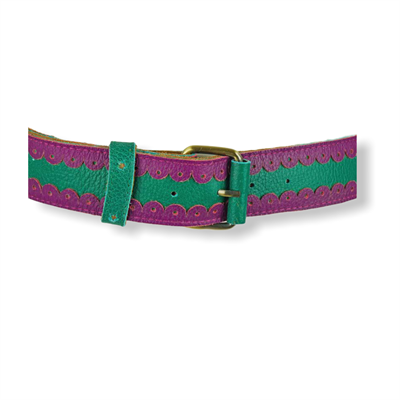 Cinturon Jeans Belt (Green/Purple)