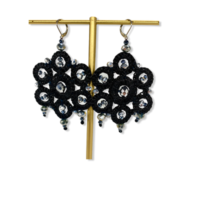 Macrame Earrings (Black)
