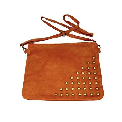 Studded Messenger (Tan)